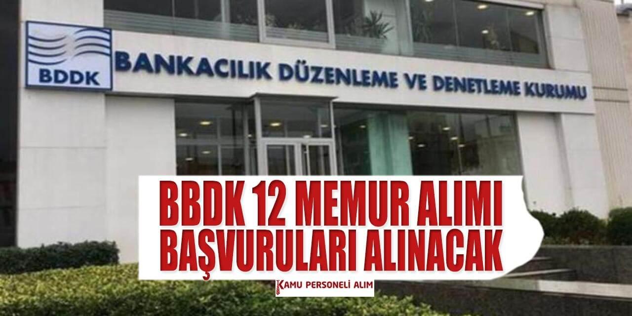 bddk 12 idari personel alimi